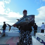 Mike with another Bluefin